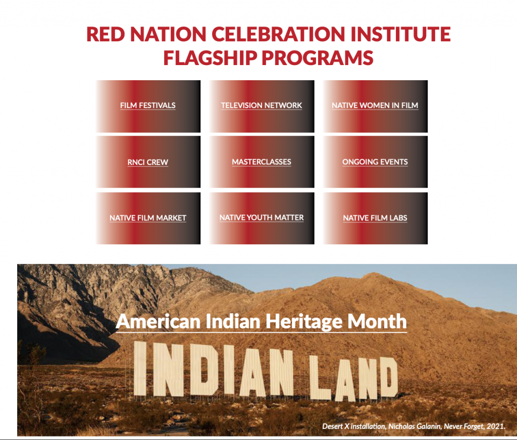 Red Nation Celebration Institute Flagship Programs
